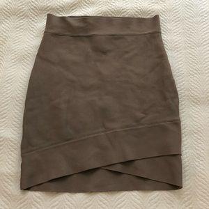 Dresses & Skirts - BCBG tan tube bondage skirt